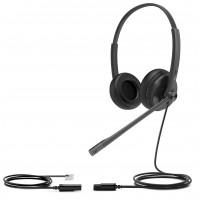 Yealink  Dual YHS34 IP Phone head set RJ9 Wideband Wired Headset